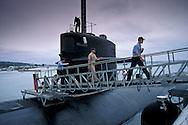 Dallas Class attack sub docked at+US Navy Submarine Base San Diego Point Loma, San Diego, CALIFORNIA