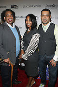 l to r; Keith Carr, Guest, and Nasser Metclaife at The ImageNation celebration for the 20th Anniversary of ' Do the Right Thing' held Lincoln Center Walter Reade Theater on February 26, 2009 in New York City. ..Founded in 1997 by Moikgantsi Kgama, who shares executive duties with her husband, Event Producer Gregory Gates, ImageNation distinguishes itself by screening works that highlight and empower people from the African Diaspora.