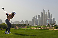 Tommy Fleetwood (ENG) on the 8th during Round 2 of the Omega Dubai Desert Classic, Emirates Golf Club, Dubai,  United Arab Emirates. 25/01/2019<br /> Picture: Golffile   Thos Caffrey<br /> <br /> <br /> All photo usage must carry mandatory copyright credit (© Golffile   Thos Caffrey)