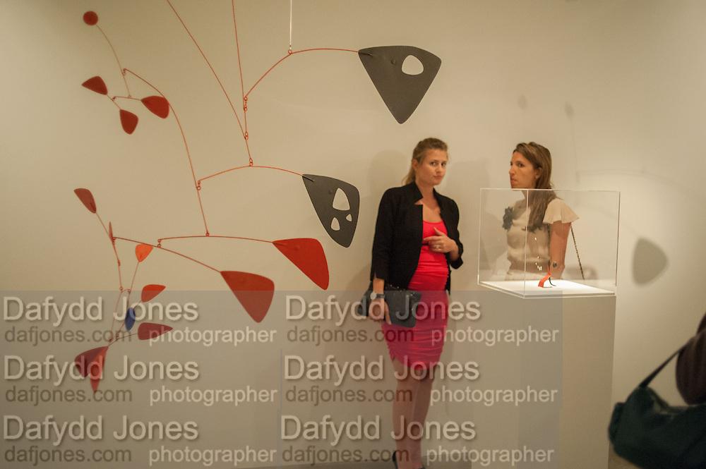 CATALINA MARCH; BEATRIZ ORDOVAS;  Pilar Ordovas hosts a Summer Party in celebration of Calder in India, Ordovas, 25 Savile Row, London 20 June 2012