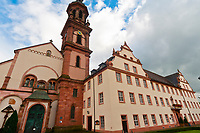 Church and cloister in the medieval town of Gengenbach, Baden-Württemberg, Germany