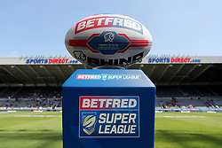 Betfred Rugby ball on display at St James' Park before the Betfred Championship match at St James' Park, Newcastle. PRESS ASSOCIATION Photo. Picture date: Saturday May 19, 2018. See PA story RUGBYL Toronto. Photo credit should read: Richard Sellers/PA Wire. RESTRICTIONS: Editorial use only. No commercial use. No false commercial association. No video emulation. No manipulation of images.