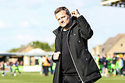 Forest Green Rovers manager, Mark Cooper during the EFL Sky Bet League 2 match between Forest Green Rovers and Exeter City at the New Lawn, Forest Green, United Kingdom on 4 May 2019.