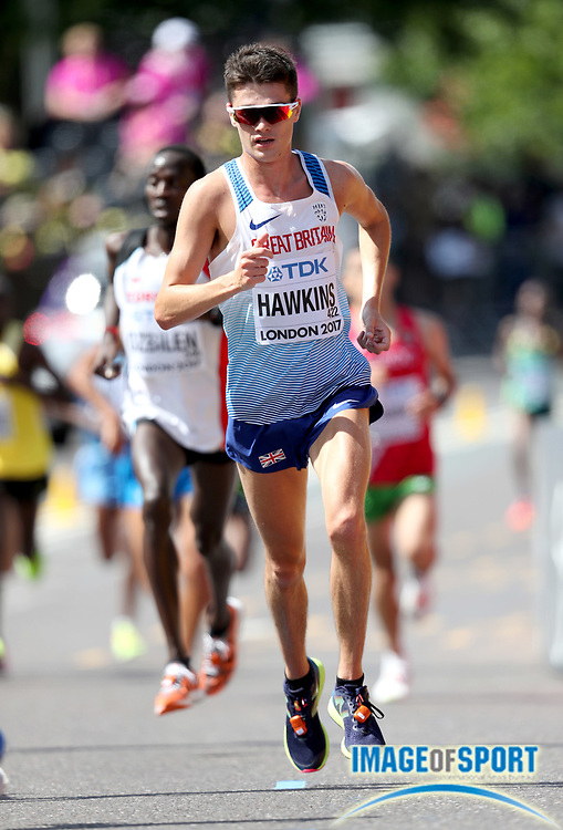 Callum Hawkins (GBR) places fourth in the marathon in 2:10:17 in the IAAF World Championships in Athletics in London on Sunday, August 6, 20017. (Jiro Mochizuki/Image of Sport)