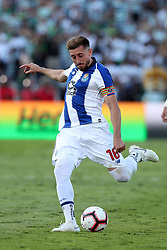 May 25, 2019 - Oeiras, Portugal - OEIRAS, PORTUGAL - MAY 25: Porto's Mexican midfielder Hector Herrera in action during the Portugal Cup Final football match Sporting CP vs FC Porto at Jamor stadium, on May 25, 2019, in Oeiras, outskirts of Lisbon, Portugal. (Credit Image: © Pedro Fiuza/NurPhoto via ZUMA Press)