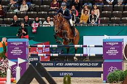 LYNCH Denis (IRL), Cristello<br /> Leipzig - Partner Pferd 2020<br /> Longines FEI Jumping World Cup™Qualifikations-Prüfung<br /> Springprfg. nach Fehlern und Zeit, international<br /> 17. Januar 2020<br /> © www.sportfotos-lafrentz.de/Stefan Lafrentz