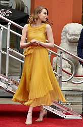 Ryan Gosling and Emma Stone's Hand and Footprint Ceremony outside the TCL Chinese Theatre in Los Angeles, California. 07 Dec 2016 Pictured: Emma Stone. Photo credit: Bauer Griffin / MEGA TheMegaAgency.com +1 888 505 6342