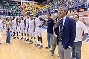 DESCRIZIONE : Brindisi Memorial Pentassuglia Lega A 2014-15 Basket Enel Brindisi Hertzeliyya<br /> GIOCATORE : Fernando Marino<br /> CATEGORIA : Pregame<br /> SQUADRA : Basket Enel Brindisi<br /> EVENTO : Memorial Pentassuglia<br /> GARA : Basket Enel Brindisi Hertzeliyya<br /> DATA : 19/09/2014<br /> SPORT : Pallacanestro<br /> AUTORE : Agenzia Ciamillo-Castoria/Max.Ceretti<br /> Galleria : Lega Basket A 2014-2015<br /> Fotonotizia : Brindisi Memorial Pentassuglia Lega A 2013-14 Basket Enel Brindisi Hertzeliyya<br /> Predefinita :