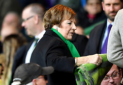 Norwich City's joint majority shareholder Delia Smith in the stands during the Sky Bet Championship match at Carrow Road, Norwich.