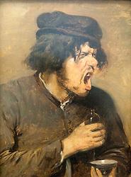 The Bitter Potion by Adriaen Brouwer at Stadel art museum or Stadelsches Kunstinstitut in Frankfurt Germany