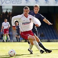 Fotball<br /> England 2004/2005<br /> Foto: SBI/Digitalsport<br /> NORWAY ONLY<br /> <br /> Southend United v Northampton Town. The Coca-Cola League two play-off semi final 2nd leg. Roots Hall.<br /> 21/05/05<br /> Southend's Lawrie Dudfield against Northampton's Andy Kirk