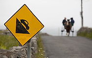Road sign with horse cart Inishmore, Aran Island, Co. Galway, Ireland. on Wednesday, July 4, 2007. (Photo/John Froschauer).