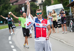 Aljaz Hocevar of Adria Mobil with lunch for riders during Stage 2 of 24th Tour of Slovenia 2017 / Tour de Slovenie from Ljubljana to Ljubljana (169,9 km) cycling race on June 16, 2017 in Slovenia. Photo by Vid Ponikvar / Sportida