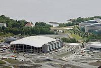 Fornebu Arena / Telenor Arena / Ny hjemmebane for Stabæk på Fornebu fotografert fra luften i juni 2008. Flyfoto. Aerial photo. Norway.<br /> <br /> 9. juni 2008. Foto: Peter Tubaas/Digitalsport<br /> <br /> Arena Stadion Stadium Flyfoto Aerial photo Norway