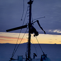 ANTARCTICA. Queen Maud Land. Wind generator destroyed by 100+ mph gusts at Russia's Novolazarevskaya science base.