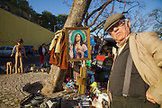 Second-hand goods to sell at feira da Ladra, the second-hand informal market near Alfama district in Lisbon.