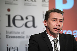 © Licensed to London News Pictures. 24/09/2018. London, UK.  MARK LITTLEWOOD, Director General of the IEA, speaking at an Alternative Brexit event, held by the IEA (Institute of Economic Affairs) in central London. Photo credit: Ben Cawthra/LNP