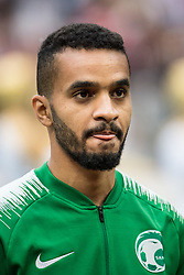 June 14, 2018 - Moscow, Russia - 180614 Mohammed Alburayk of Saudi Arabia prior the FIFA World Cup group stage match between Russia and Saudi Arabia on June 14, 2018 in Moscow..Photo: Petter Arvidson / BILDBYRN / kod PA / 92065 (Credit Image: © Petter Arvidson/Bildbyran via ZUMA Press)