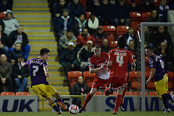 Notts County's Jack Grealish takes a shot at goal  - Photo mandatory by-line: Mitchell Gunn/JMP - Tel: Mobile: 07966 386802 17/09/2013 - SPORT - FOOTBALL -  Matchroom Stadium - London - Leyton Orient v Notts County - Sky Bet League One