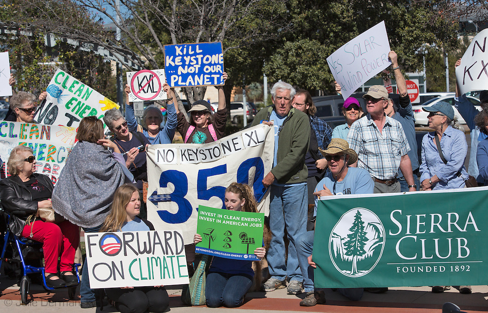 February 17th, 2013,  A crowd of over 300 protest against the Keystone XL Pipeline in front of a Whole Foods store in Austin, Texas in solidarity with protesters in <br />  Washington DC, where tens of thousands showed up for the largest climate change rally protest in the environmental movement's history.