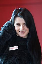 Miss Macedonia Vasha Jakimuska..The Miss World participants visit Edinburgh Castle and will witness the firing of the One O'clock gun..MISS WORLD 2011 VISITS SCOTLAND..Pic © Michael Schofield.