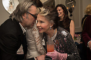 DAVID DOWSON; LESLIE CARON, Nicky Haslam hosts dinner at  Gigi's for Leslie Caron. 22 Woodstock St. London. W1C 2AR. 25 March 2015