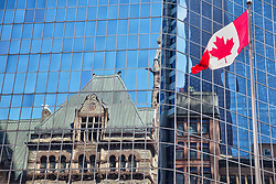 June 10, 2017 - Toronto, Canada - Old City Hall building reflected in an office building in downtown Toronto, Ontario, Canada, on June 10, 2017. (Credit Image: © Creative Touch Imaging Ltd/NurPhoto via ZUMA Press)