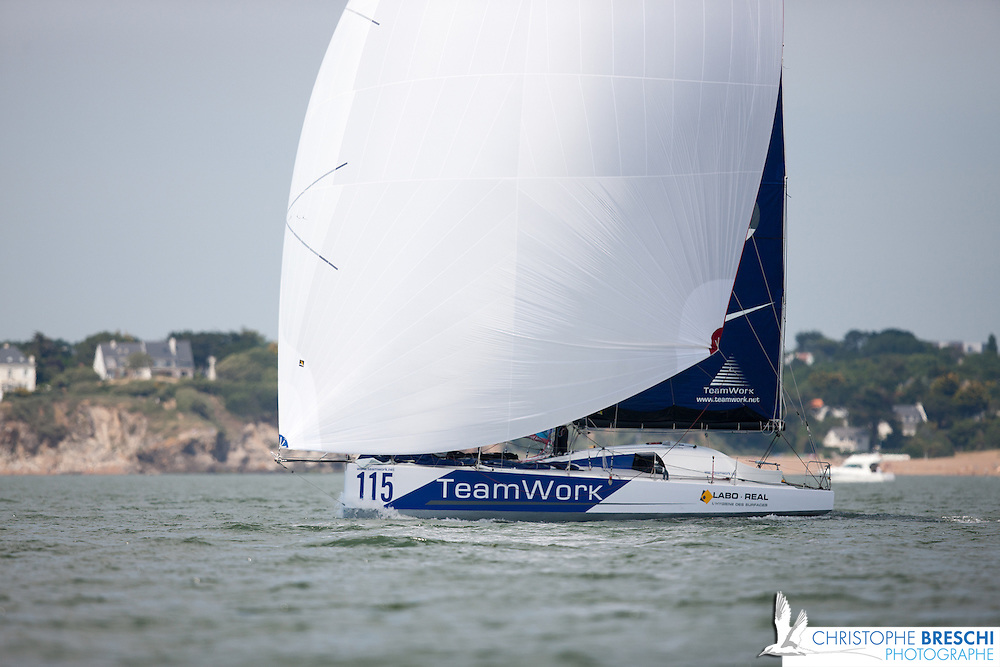 Bertrand Delesne sur Teamwork / Class 40 N°115