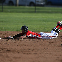 Westmont #23 Austin Tremelling doubles vs Leland in a BVAL Baseball Game at Westmont High School, Campbell CA on 3//23/2018. (Photograph by Bill Gerth/ for SVCN) (Leland 9 Westmont 8)
