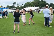 JEMMA TOOHEY; SARAH YATES; AMELIA TOOHEY, Cartier International Polo Day at the Guards Polo Club. Windsor. July 26  2009