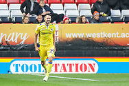 Bristol Rovers defender Joe Martin (29) celebrates after scoring a goal taking the score to 1-1 during the EFL Sky Bet League 1 match between Charlton Athletic and Bristol Rovers at The Valley, London, England on 24 November 2018.