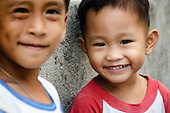 Philippines, Batanes. Two little brothers from Sabtang Island.