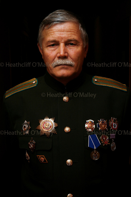 """Photo by Heathcliff Omalley..Sergei Khudyakov, a """"Colonel"""" in the resurrected Cossack movement which deploys border guards on the Russo-Chinese frontier 70kms from the city of Khabarovsk in Far Eastern Russia..The Cossacks were used during"""
