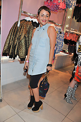 JAIME WINSTONE at a party to celebrate the launch of Louise Gray's make-up and clothing collections for Topshop held at Topshop Edited, 286 Regent Street, London on 22nd August 2012.