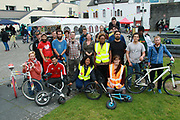 Organisers and volunteers  at the opening of the Galway Bike Festival on Saturday. Photo:-XPOURE.IE / NO FEE