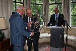 Eugene Mathy, Jacky Buchmann, Philippe Demeersman<br /> Viering 25 jaar voorzitterschap Jacky Buchmann<br /> © Hippo Foto - Dirk Caremans<br /> 08/07/15