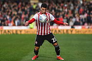 Brentford Forward Said Benrahma (21) in action during the EFL Sky Bet Championship match between Brentford and Queens Park Rangers at Griffin Park, London, England on 2 March 2019.