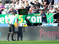 Football - 2021 / 2022 Premier League - Newcastle United vs Southampton - St Jame's Park - Saturday 28th August 2021<br /> <br /> The referee awards a penalty to Southampton after a VAR check<br /> <br /> Credit: COLORSPORT/Bruce White