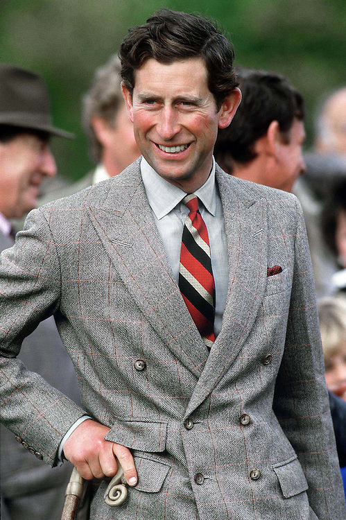 Prince Charles, The Prince of Wales seen at a rural farming event in North Yorkshire,UK in 1986. Photographed by Terry Fincher