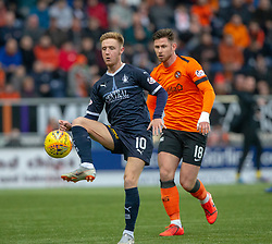 Falkirk's Davis Keillor Dunn and Dundee United's Calum Butcher. hafl time : Falkirk 0 v 0 Dundee United, Scottish Championship game played 23/2/2019 at The Falkirk Stadium.