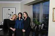 17th February 2009. Los Angeles, California. Women Leaders in the Law, (L-R), Grace A. Jamra, Stacy D.Phillips and Azita Avedissian of law firm: Phillips, Lerner, Lauzon & Jamra. PHOTO © JOHN CHAPPLE / REBEL IMAGES..(001) 310 570 9100   john@chapple.biz   www.chapple.biz