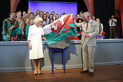 July 4, 2018 - Builth Wells, United Kingdom - Image licensed to i-Images Picture Agency. 04/07/2018. Builth Wells, Wales, United Kingdom. The Prince of Wales and the Duchess of Cornwall at the reopening of the newly renovated Strand Hall in Builth Wells, Wales, United Kingdom. (Credit Image: © Pool/i-Images via ZUMA Press)