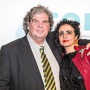 NLD/Amsterdam/20161005 - Filmpremiere Tonio, A.F.Th. van der Heijden en partner Mirjam Rotenstreich