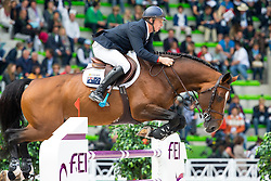 Jamie Kermond, (AUS), Quite Cassini - Team & Individual Competition Jumping Speed - Alltech FEI World Equestrian Games™ 2014 - Normandy, France.<br /> © Hippo Foto Team - Leanjo De Koster<br /> 02-09-14
