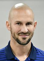 Download von www.picturedesk.com am 16.08.2019 (14:03). <br /> ABD0125_20190716 - WIEN - ÖSTERREICH: Trainer Christian Ilzer - FK Austria Wien anl. des Mannschafts-Fototermin am Dienstag, 16. Juli 2019, in Wien. - FOTO: APA/HANS PUNZ  _ - 20190716_PD4304