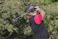 October 21, 2017 - Seogwipo, Jeju Island, South Korea - Patrick Reed of USA tee up action on the 3th tee ground during an PGA TOUR CJ CUP NINE BRIDGE DAY 3 at Nine Bridge CC in Jeju Island, South Korea. (Credit Image: © Ryu Seung Il via ZUMA Wire)