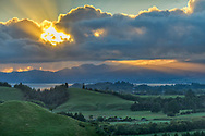 Oceania, New Zealand, South Island, Tanaka, Golden Bay, sunrise near Tanaka
