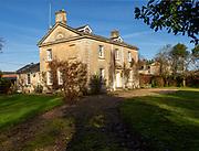 Detached stone farmhouse c 1830, Central House, Warren Farm, nr Great Bedwyn, Wiltshire, England, UK