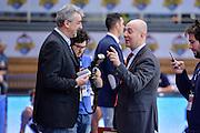 DESCRIZIONE : Trento Beko All Star Game 2016<br /> GIOCATORE : Geri De Rosa Massimiliano Menetti<br /> CATEGORIA : Fair Play Before Pregame<br /> SQUADRA : Sky Sport TV<br /> EVENTO : Beko All Star Game 2016<br /> GARA : Beko All Star Game 2016<br /> DATA : 10/01/2016<br /> SPORT : Pallacanestro <br /> AUTORE : Agenzia Ciamillo-Castoria/L.Canu