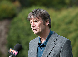 'Rebus' creator Ian Rankin after the author opened Scotland's newest distillery at Lindores Abbey in Fife, which is on the site of the earliest recorded distillation of whisky over 500 years ago.<br /> <br /> © Dave Johnston/ EEm